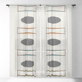 Mid-Century Modern 1.1 Sheer Curtain