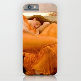 FLAMING JUNE - FREDERIC LEIGHTON (RESTORED) iPhone Case