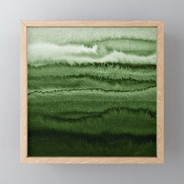 WITHIN THE TIDES FOREST GREEN by Monika Strigel Framed Mini Art Print
