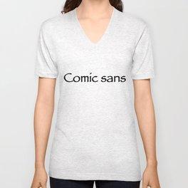 Comic sans Unisex V-Neck