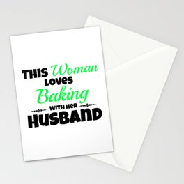 This Woman Lovebaking With Her Husband Stationery Cards