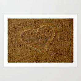 Heart in the Sand Art Print