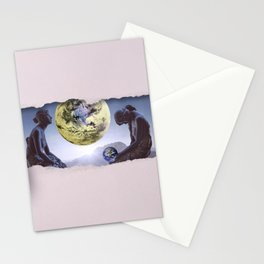 Untimely Ripped Voyeur Views: The World is in Our Hands Stationery Cards