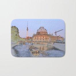 Berlin Spree Bode Museum and Alexander tower Bath Mat