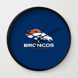 Broncos den Wall Clock