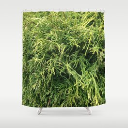 Combed Greens Shower Curtain