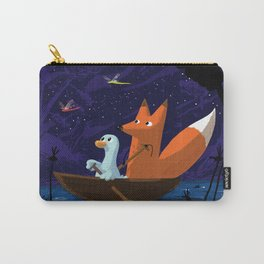 Fox & Duck Looking For Dragonflies Carry-All Pouch