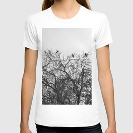 A murder of crows sitting in a tree T-shirt