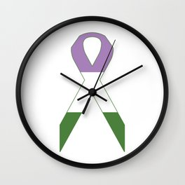 Genderqueer Ribbon Wall Clock