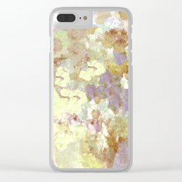 Lavender and Yellow Bouquet Clear iPhone Case