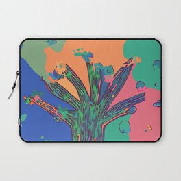 Colorful First Sprint Blossoms Laptop Sleeve