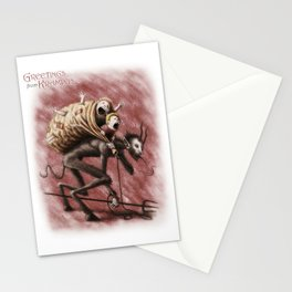 Krampus (with text) Stationery Cards