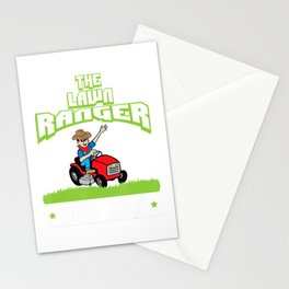 The Lawn Ranger Rides Again | Cute Lawn Caretaker Stationery Cards