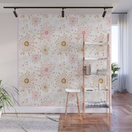 Retro . Abstract pattern Dandelions . Wall Mural