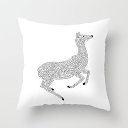 Young Deer in the Wild Throw Pillow