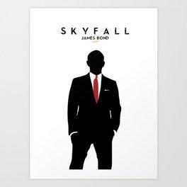 Skyfall, James Bond,minimalist design , alternative poster, Daniel Craig, Javier Bardem, Sam Mende Art Print