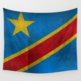 National flag of the Democratic Republic of the Congo, Textured version (to scale) Wall Tapestry