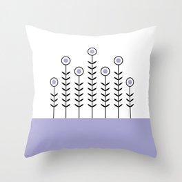Spring Shoots (Lavender) Throw Pillow