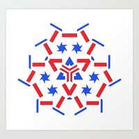 patriotic Art Prints featuring Patriotic by Robin Curtiss