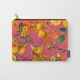 Vintage & Shabby Chic - Summer Golden Apples Pink Flowers Garden Carry-All Pouch