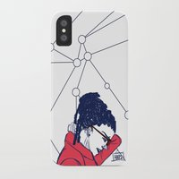 cosima iPhone & iPod Cases featuring Cosima in Red by the-haps