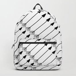 Tribal Art Arrows, Black and White Pattern Backpack