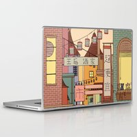 china Laptop & iPad Skins featuring China Town by James White
