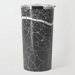 Gray on White London Street Map Travel Mug