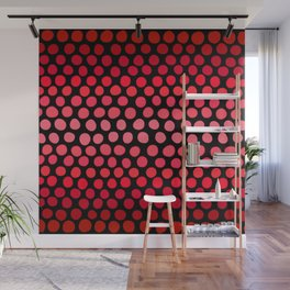 Juicy Red Apple Ombre Dots Wall Mural