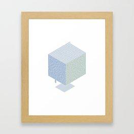3D labyrinth Framed Art Print
