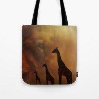 wildlife Tote Bags featuring Wildlife by Digital-Art