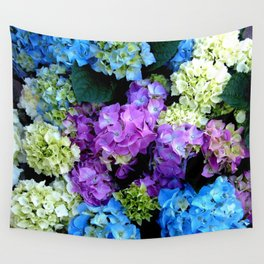 Colorful Flowering Bush Wall Tapestry