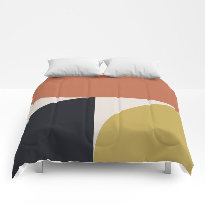 Mid Century Modern Abstract II Comforters