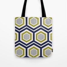Hexagons and Zigzags Tote Bag
