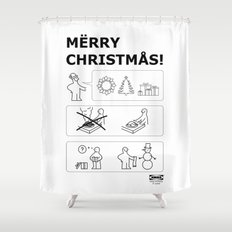 How To Have A Merry Christmas Shower Curtain