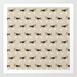 Wire Fox Terrier dog pattern dog lover gifts for dog person dog breeds pet friendly Art Print