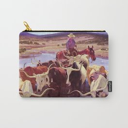 """""""Old Texas"""" by W Herbert Dunton Carry-All Pouch"""