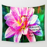 quotes Wall Tapestries featuring Quotes-Rumi by haroulita