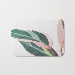 Pink Leaves II Bath Mat