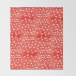 Pohutukawa flakes-red Throw Blanket