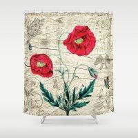 romantic Shower Curtains featuring Romantic by Susann Mielke