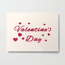 Valentine's Day with hearts Metal Print