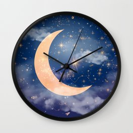 Nerdy Space Wall Clock