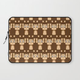 Super cute animals - Cheeky Brown Monkey Laptop Sleeve