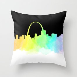 St. Louis Skyline Throw Pillow
