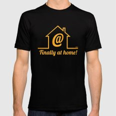 Finally at home MEDIUM Black Mens Fitted Tee