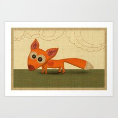 Cute Fox Art Print