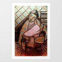 leah flores Art Prints featuring Leah by mvtemba