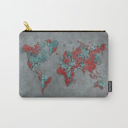 world map 84 grey Carry-All Pouch