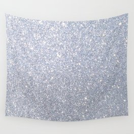 Silver Metallic Sparkly Glitter Wall Tapestry